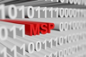 Image of the letters MSP, an MSP is a managed services provider