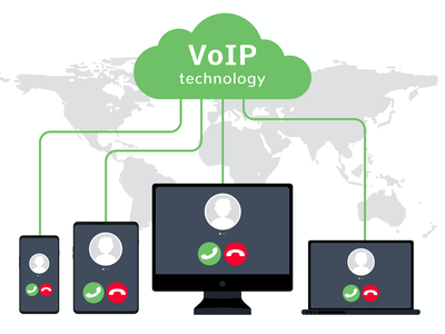 illustration of VoIP Telephone System Structure