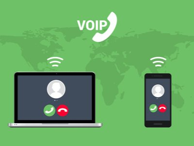 illustration of voip phone with computer to show integrations